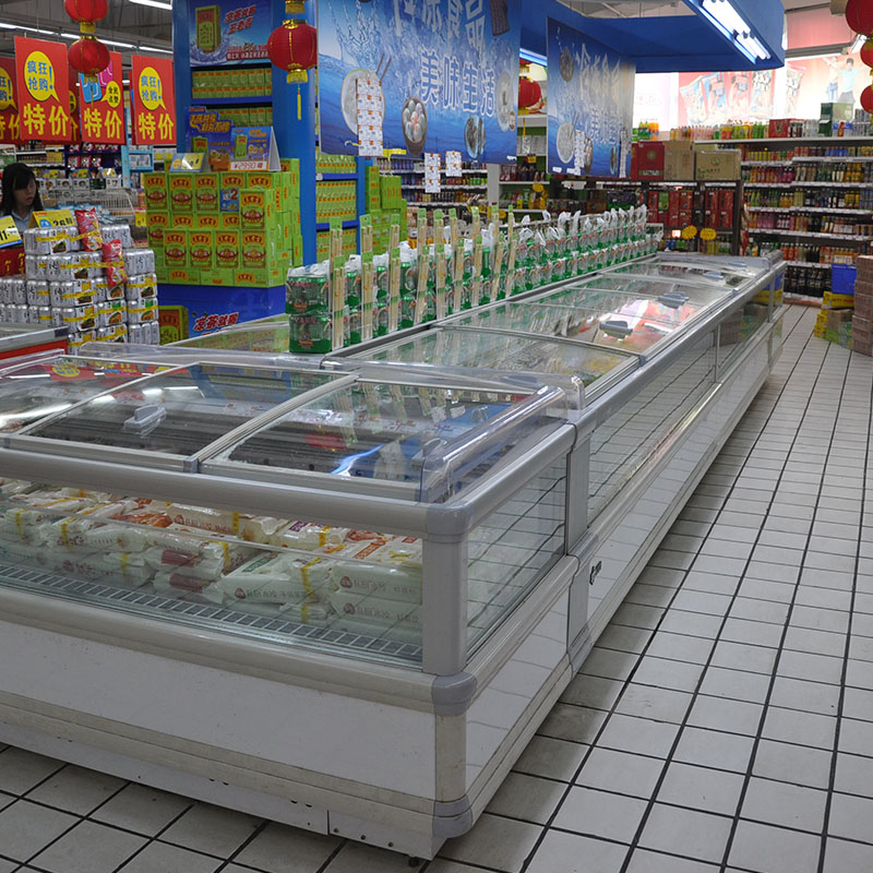 Universal Energy-saving Supermarket Island Freezer for Display And Sale with Brand-name Compressors