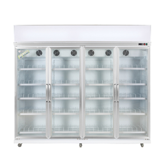 Convenient Upright Cooler for Cooling Drinks with Multi-layer Shelves Adjustable